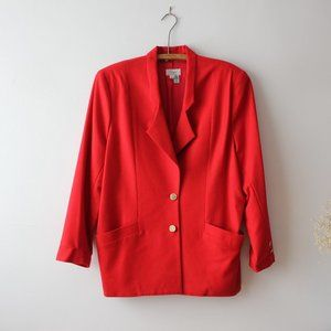 Vintage Simpsons Red Wool Blazer